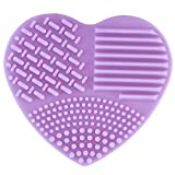1 Piece Heart Makeup Brushes Set Silica Glove Scrubber Clean Cleaning Cosmetic Make Up Tools Professional Natural Beauty Palette Eyeshadow Goodly Popular Eyes Faced Colorful Rainbow Hair Kit, Type-03