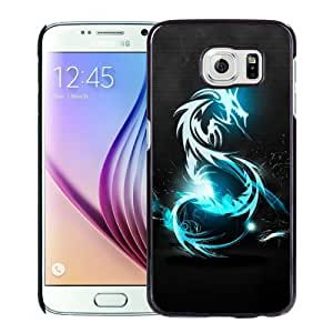 Beautiful Designed Antiskid Cover Case For Samsung Galaxy S6 Phone Case With Dark Blue Dragon_Black Phone Case