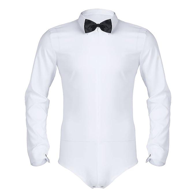 Camisa Chictry Body Manga Larga Shirt Slim Camiseta Hombre Casual clFK1JT