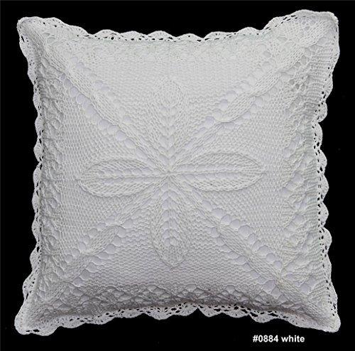 Creative Linens algodón Crochet encaje de almohada Funda de ...