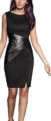 C.X Trendy Lady Splice Bodycon One-piece Dress For Party Pencil Cocktail Dresses