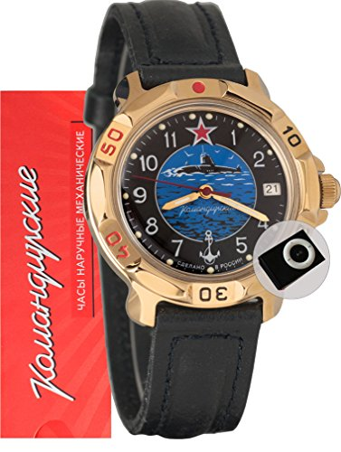 Vostok Komandirskie 819163 / 2414A Military Special Forces Russian Watch Black Submarine Navy and MP3 player