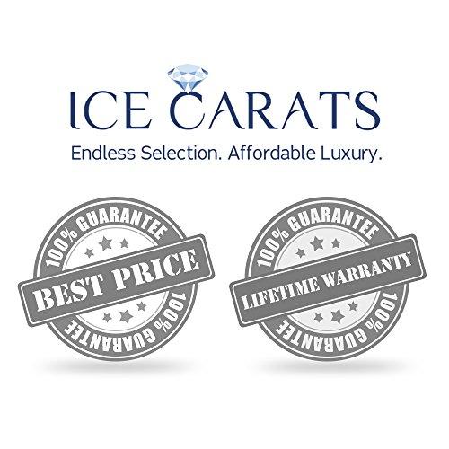 Icecarats Créatrice De Bijoux 14K Diamant Or Blanc Voyage Pendentif Coeur