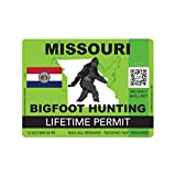 fagraphix Missouri Bigfoot Hunting Permit Sticker Die Cut Decal Sasquatch Lifetime FA Vinyl - 4.00 Wide