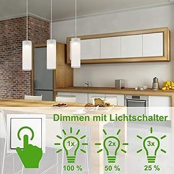 2x Design Decken Pendel Leuchte weiß Esstisch Beleuchtung Lampe mit Schalter
