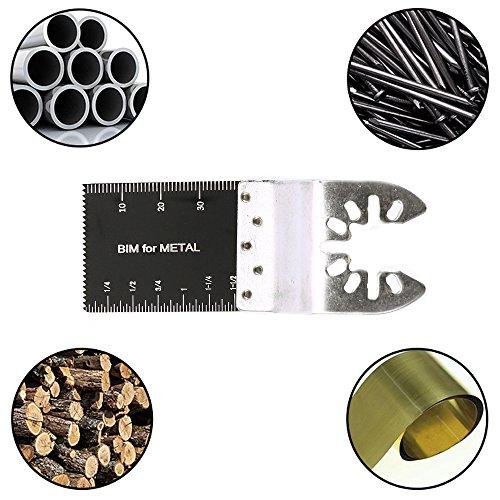 10 Pack Professional Bi-Metal Oscillating Saw Blades Nail/Metal/Wood Universal Multitool Quick Release Blade Fits Dewalt, Porter Cable,Rockwell,Makita,Black & Decker,Bosch Craftsman,F by Hotbestus (Image #2)