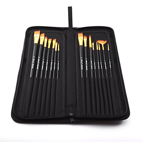 Professional artist paint brush sets wide variety 15 for Professional painting supplies