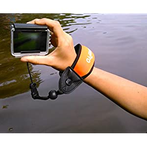 Camera Float Strap and Bonus Interchangeable Quick Release Wristband for Go Pro Waterproof Cameras - Best Floating Accessory for GoPro