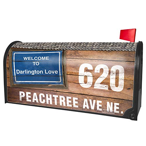 NEONBLOND Custom Mailbox Cover Sign Welcome to Darlington