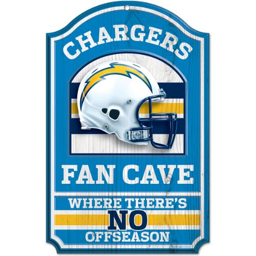 NFL San Diego Chargers Fan Cave Wood Sign, 11