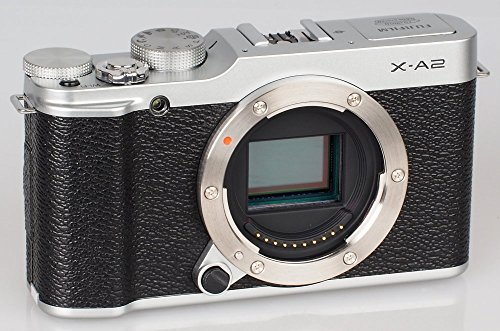 Fujifilm X-A2 Mirrorless Digital Camera (Silver Body Only) - International Version (No Warranty)