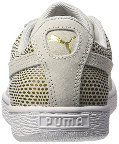 Puma 361862 White top Low Weiß Damen Weiß Gold rqzSwr8F