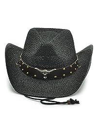 AccessHeadwear Old Stone Longhorn Men's Cowboy Drifter Style Hat, Black