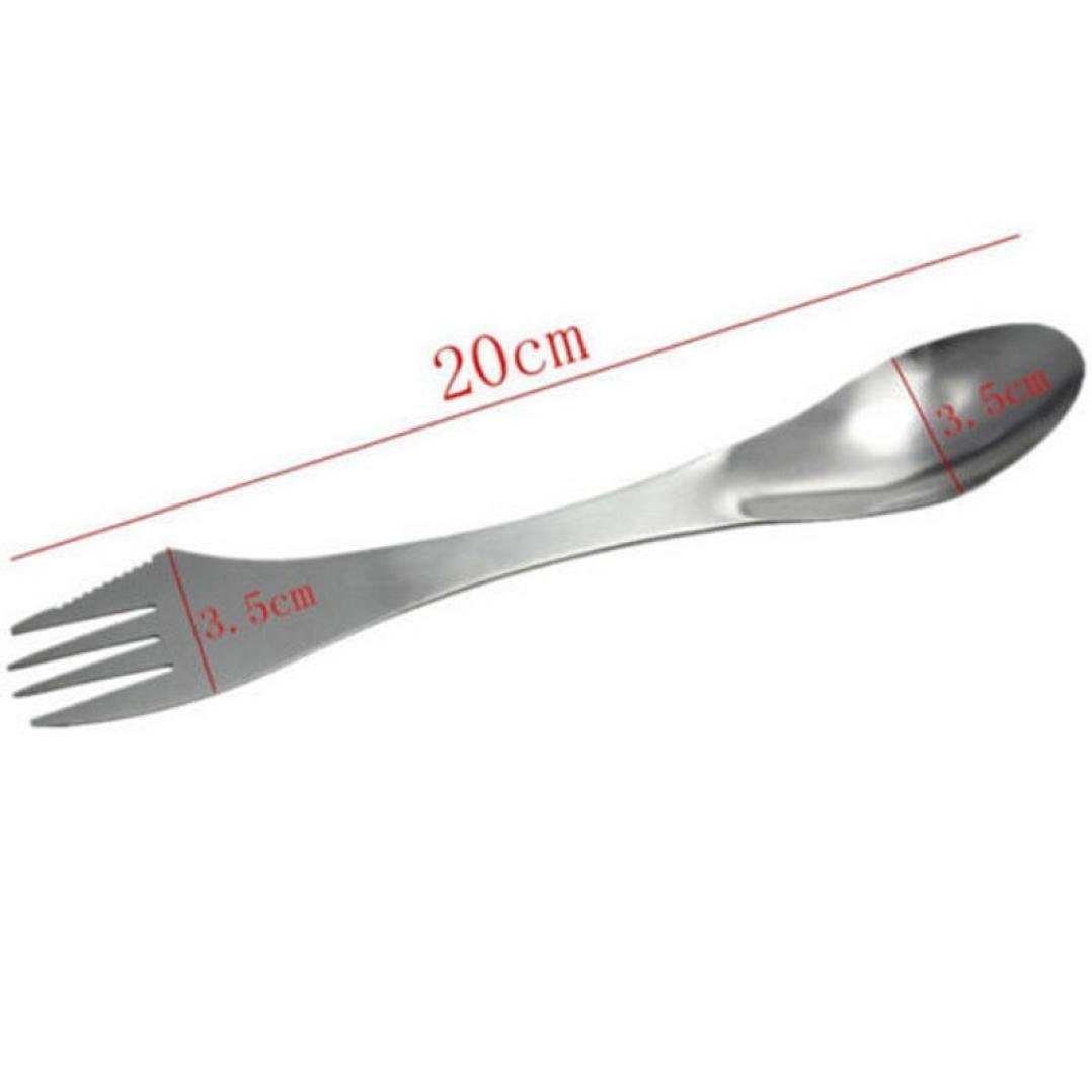 3 in 1 Stainless Fork Spoon Spork Cutlery Utensil Combo Kitchen Outdoor Camping Hiking