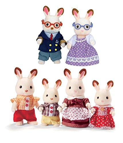 Calico Critters Hopscotch Rabbit Family Bundled with Hopscotch Rabbit Grandparents