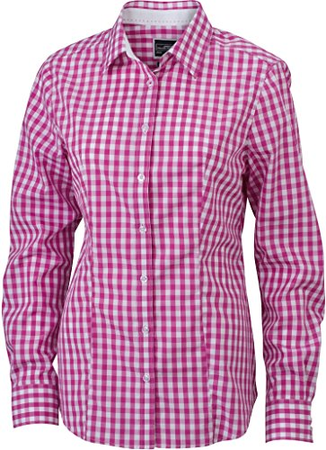 white Purple Inserti Donna Colletto Nicholson Unita Camicia E Tinta Con Quadri Sul amp; Fashion A Polsini James qaZ4pp