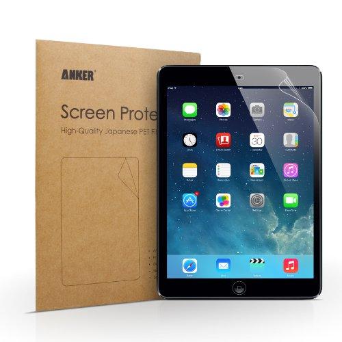 [2-Pack] Anker Clear Schutzfolie für iPad Air 2 iPad Air iPad 5 / iPad Pro 9.7 Displayschutz Screen Protector - Klar - High Definition (HD) - Schmutzresistent - Lebenslange Garantie