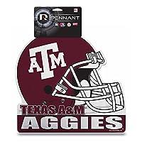 College Texas A & M Die Cut Helmet with Header