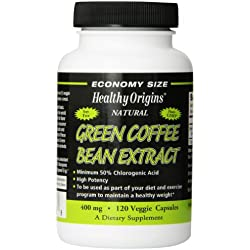Healthy Origins Green Coffee Bean Extract Multi Vitamins, 400 Mg, 120 Count