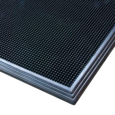 Desinfektionsmatte - LxB 810 x 610 mm schwarz - Arbeitsplatzmatte Arbeitsplatzmatten Bodenbelag Bodenmatte Gummimatte Sicherheitsmatte