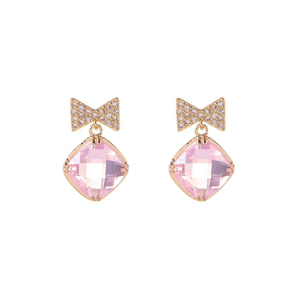 Ling Studs Earrings Hypoallergenic Cartilage Ear Piercing Simple Fashion Earrings Ear Jewelry Stud Earrings Sterling Silver Bow Short Hair Earringsc