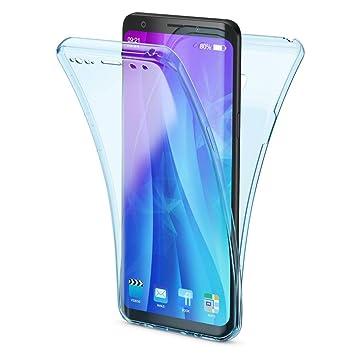 NALIA Funda 360 Grados Compatible con Samsung Galaxy S9, Delantera Trasera Protectora Movil Silicona Carcasa, Ultra-Fina Gel Transparente Doble ...