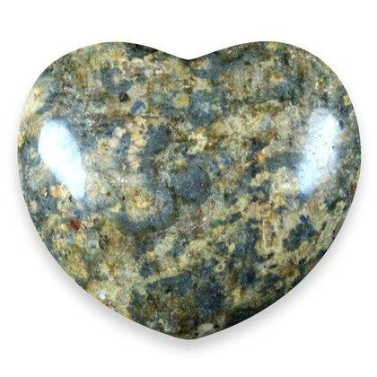 CrystalAge Leopard Skin Jasper Heart ~45mm