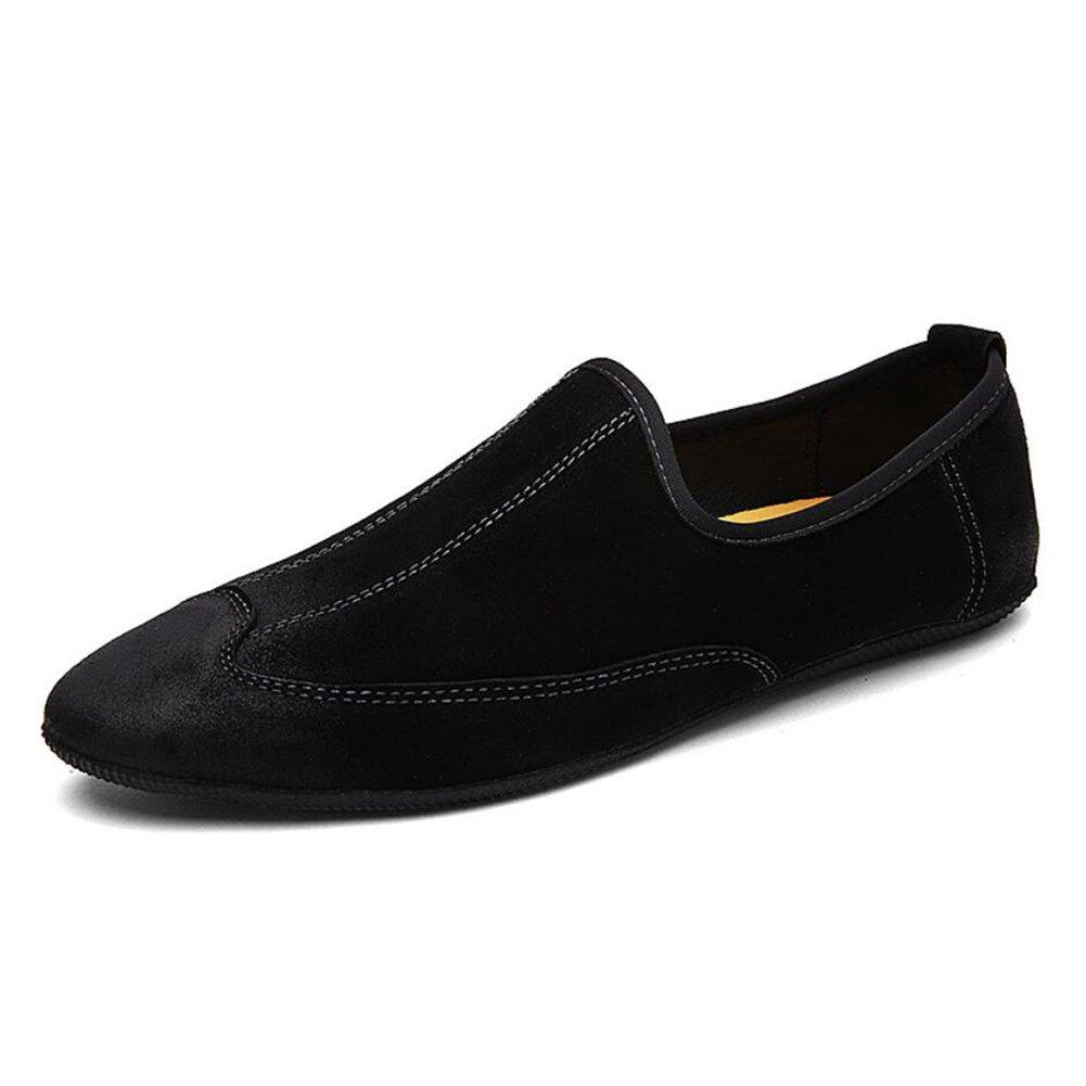 CAI Lazy Schuhe der Männer 2018 Sommer/Herbst Herren Freizeitschuhe/Fahr Schuhe Leder Peas Schuhe Loafers & Slip-Ons (Farbe : Schwarz, Größe : 44)