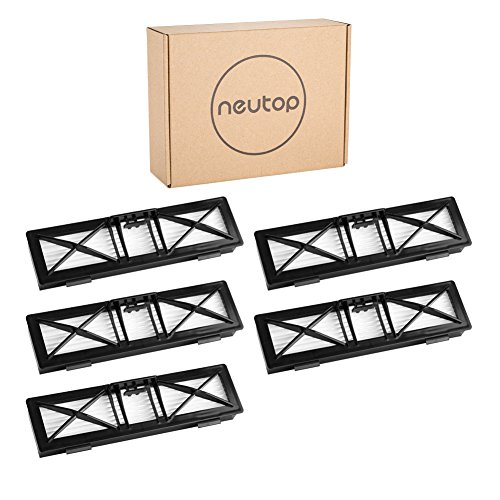 Neutop Ultra Performance Filter Replacement for Neato Connected D5 D6 D7 Wi-Fi Enabled Vacuum, Botvac D Series D75 D80 D85 Models, 5-Pack.