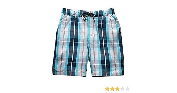 FRAUIT Pantalones Cortos A Cuadros para Hombre Pantalones Cortos Deportivos Casuales Pantalones Cortos Delgados para Los Hombres Pantalones Sueltos de Los Hombres