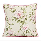 YIH Cushion Covers 18 x 18 set of 2, Square Decorative Throw Pillows Cases Pillowcases For Sofa, Bed, 45cm x 45cm