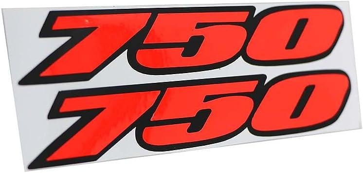 Carbon Fiber Decal Fairing sticker Label 750 For SUZUKI GSXR 750 GSXR750