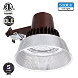 Dusk-to-Dawn LED Outdoor Barn Light (Photocell Included), 50W (420W Equiv.), 5000K Daylight Floodlight, DLC & ETL-Listed Yard Light for Area Lighting, Wet Location Available, 5-Year Warranty