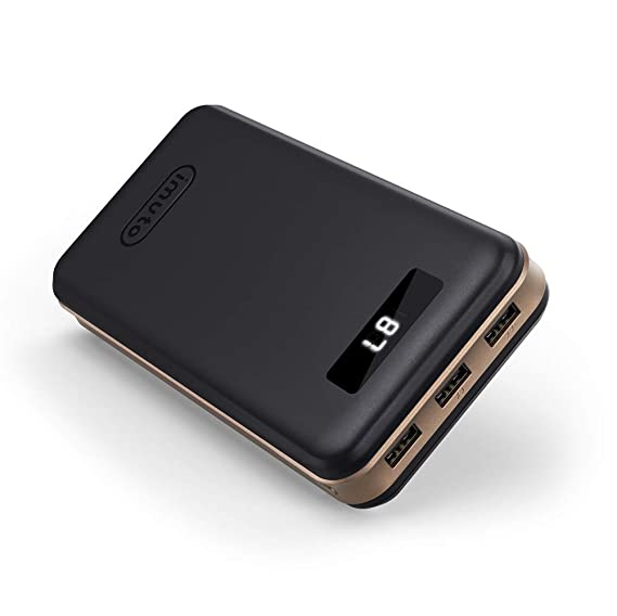 d6a77395c87 iMuto 30000mAh Portable Charger X6, 3-Port USB Output Power Bank External  Battery Packs