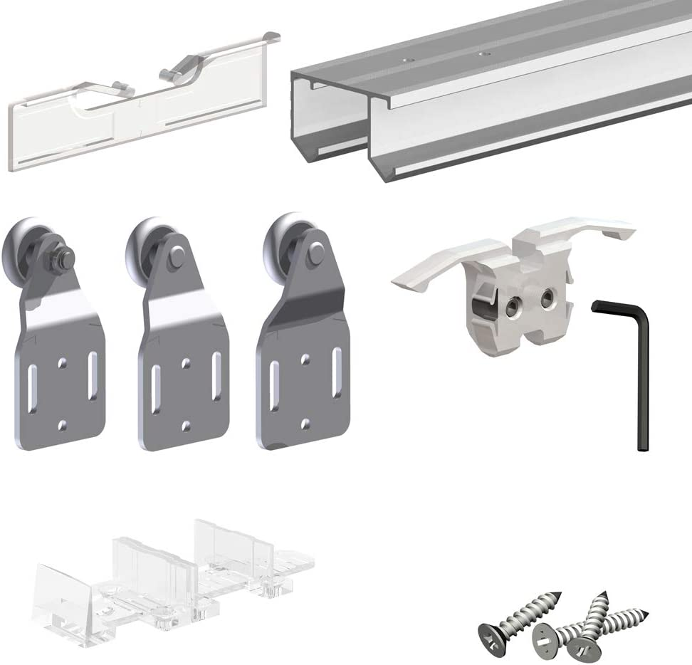 Amazon Com Slid Up 110 Sliding Closet Door Hardware Kit 94
