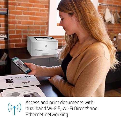 HP LaserJet Pro M404dw Monochrome Wireless Laser Printer with Double-Sided Printing, Works with Alexa (W1A56A)