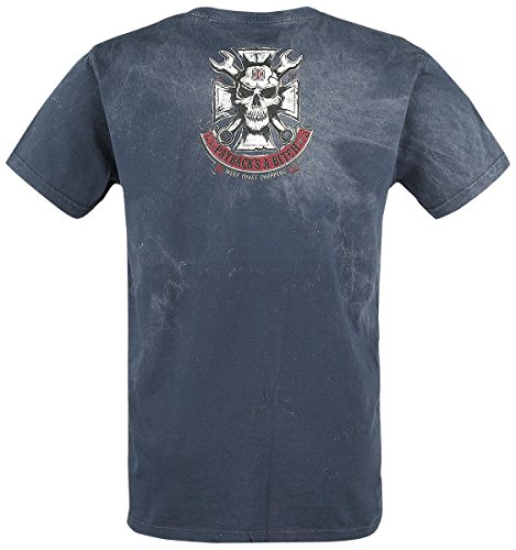 T-Shirt West Coast Choppers Mechanic Vintage Blu (L , Blu)