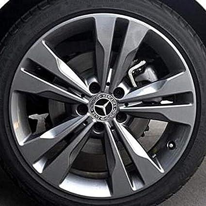4PCS 75mm//2.95 Black Rim Hub Cover Logo Cap Fit for Mercedes Benz Alinall Wheel Center Hub Caps Emblem Fit for Benz