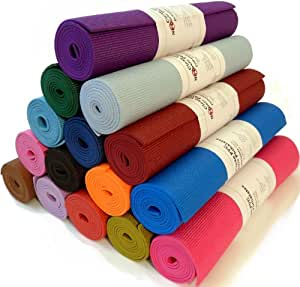 """Yoga Monster Mat 1/4""""x72"""" Extra Thick 17 Colors SGS Approved Non-Toxic No Phthalates or Latex by Bean Products - Blues"""