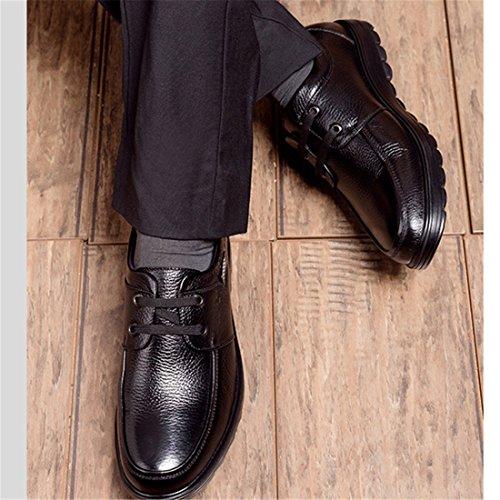Heren Casual Werk Lace-up Klassieke Multicolor Leren Vintage Oxford Schoenen 6070 Bruin