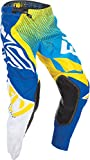 Fly Racing Unisex-Adult Evolution 2.0 Pants (Blue/Yellow/White, Size 34)