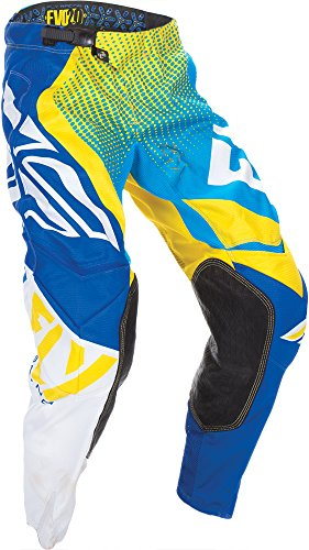 Fly Racing Unisex-Adult Evolution 2.0 Pants (Blue/Yellow/White, Size 40) (Evolution Motorcycle Pants)