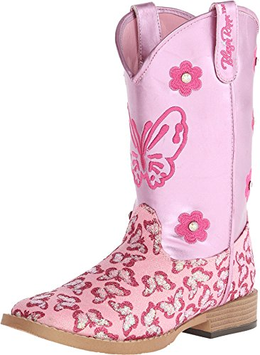 Blazin Roxx Girls' Pecos Glitter Cowgirl Boot Square
