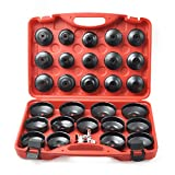 Compatible for 30PCS Cup Type Oil Filter Wrench Set Socket Tool Set for Mercedes BMW VW Audi Volvo Ford