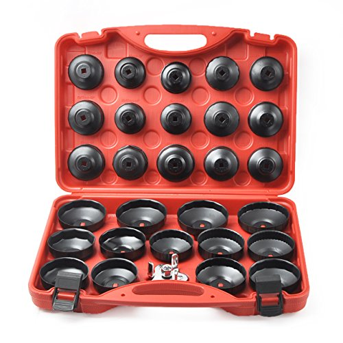 Compatible for 30PCS Cup Type Oil Filter Wrench Set Socket Tool Set for Mercedes BMW VW Audi Volvo Ford by Generic (Image #7)
