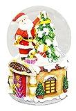 Christmas Musical Water Ball Santa u0026 Tree 14.8cm QE22920