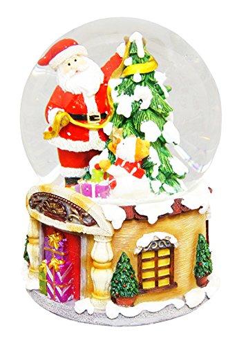 Christmas Musical Water Ball Santa u0026 Tree 14.8cm QE22920 by South trade (Image #1)