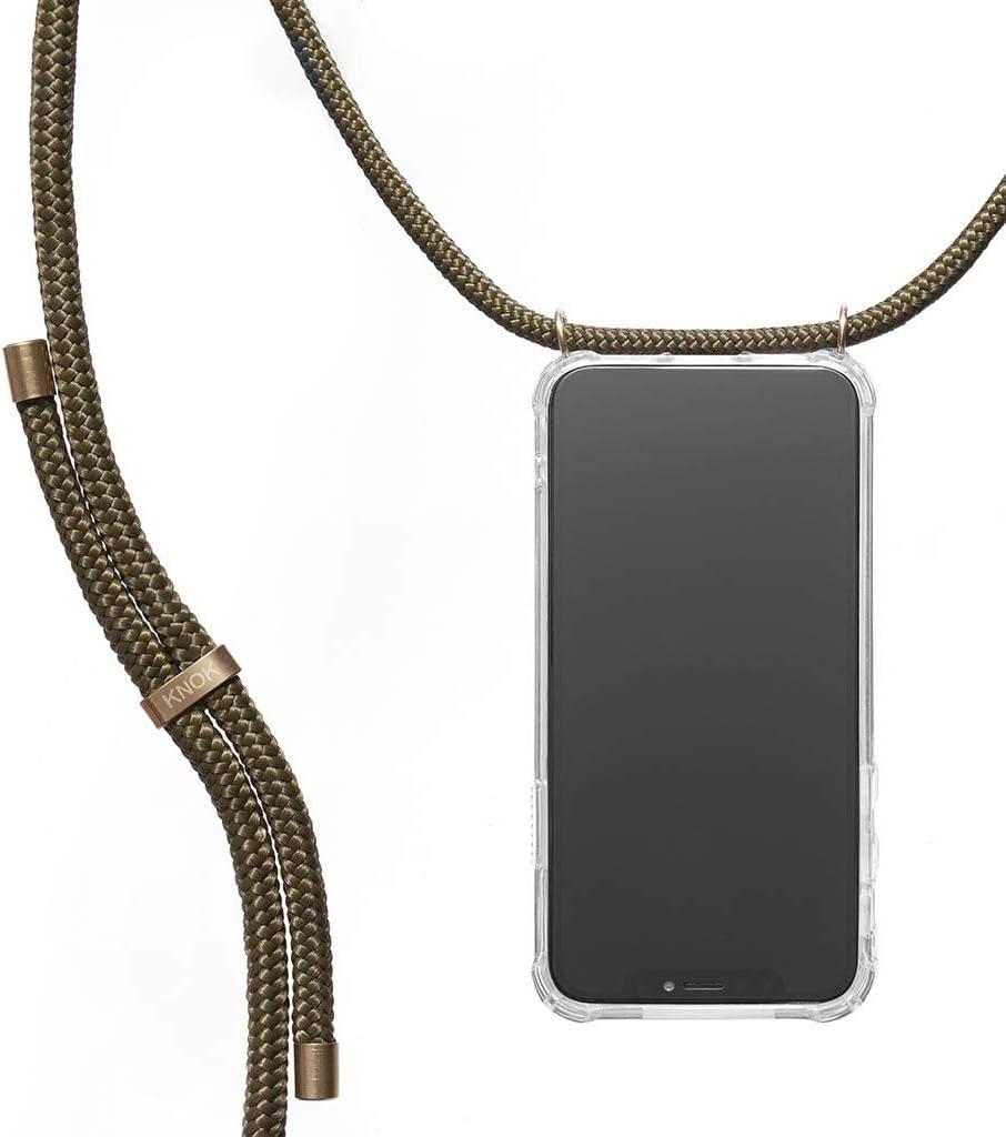 KNOK Funda Colgante movil con Cuerda para Colgar iPhone 11 - Carcasa de móvil iPhone Samsung Huawei con Correa Colgante - con Cordon para Llevar en el Cuello