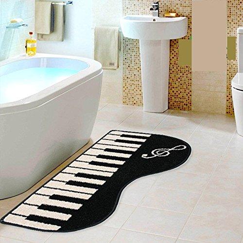 Modern Piano Living Room Mat Fashion Piano Bathroom Carpet