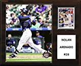 "C&I Collectables MLB Colorado Rockies Nolan Arenado Player Plaque, 12""x15"""